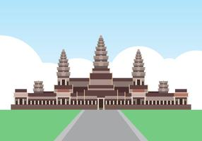 Angkor Wat Cambodia Landmark Illustration vector
