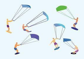 Vecteur de kitesurf