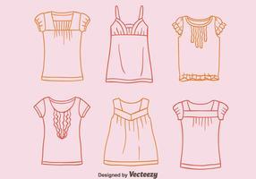 Schets Overhemd Met Vrolijke Collectie Vetor
