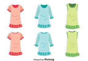 roupas de menina com vetor de babados