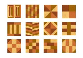 Wicker And Parquet Icons vector