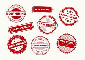 Now Hiring Stamp Vectors