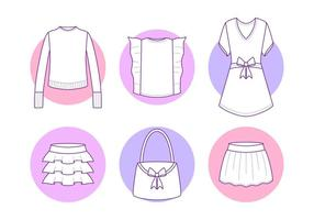 Free Unique Frills Vectors