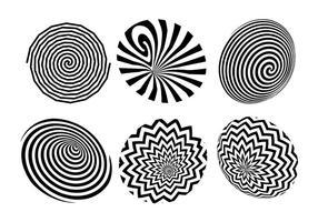 Conjunto de iconos de vector de hipnosis