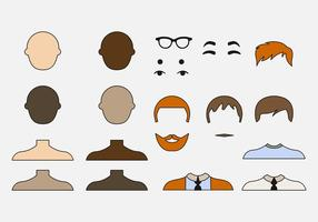 Vetores masculinos do ícone Avatar criativo