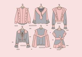 Frilly Clothes Vector