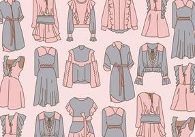 Clothes with Frills Vector