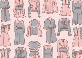 Kleidung mit Rüschen Vektor