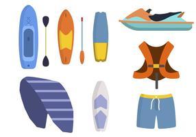 Flachwassersport-Vektoren