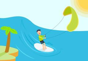 Vectores libres del Kitesurfing