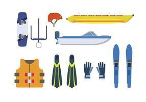 Flat Water Sport Vectors