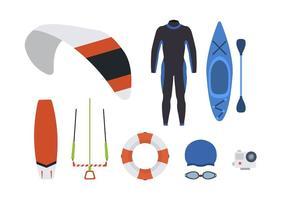 Vetores planos de esportes aquáticos