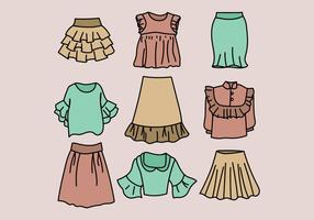 Colorful Frilled Wardrobe vector