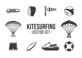 Vetor de ícones de Kitesurf