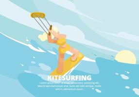 kitesurfing illustration