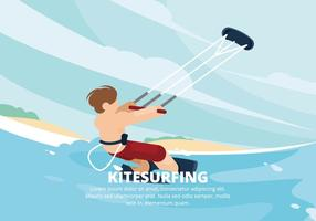 Illustration de kitesurf