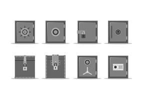 Flat Metal Strongbox Gratis Vector