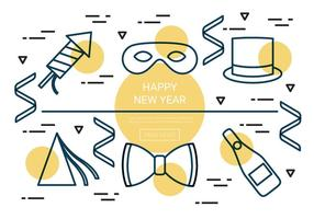 Free Linear New Year Vector Icons