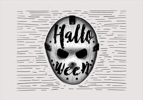 Free Hand Drawn Halloween Hokey Mask Illustration