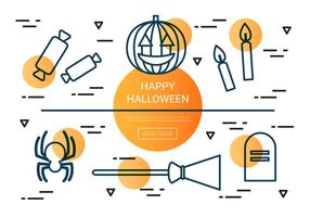 Free Linear Halloween Vector Icons