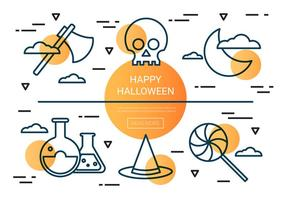 Libre Lineal Halloween Vector Icons