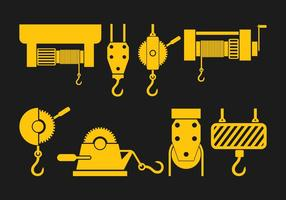 Winch Icons Set