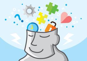 Cartoon Open Mind Vector