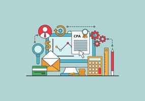 Ilustración vectorial gratis de contabilidad