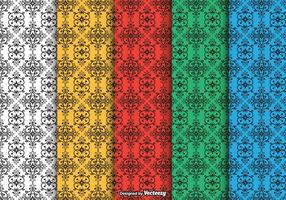 Dayak Ornament Seamless Vector Patterns