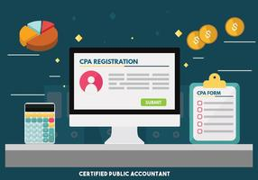 CPA eller Certified Public Accountant Vector Design