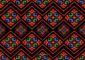 Colorful Dayak Style Pattern Hintergrund