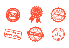 Grunge CPA Stamp Vector