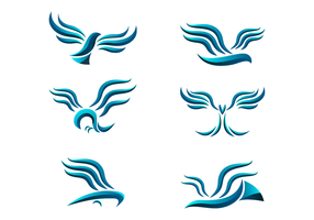 Abstract Buzzard Logo Vector