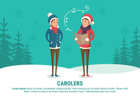 Carolers Vector Illustration