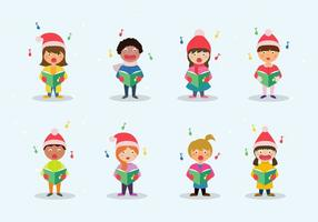 Carolers Children Vector