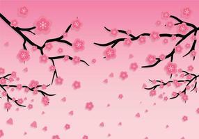 Plommon blommar vektor bakgrund