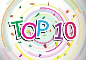 Top 10 design vector