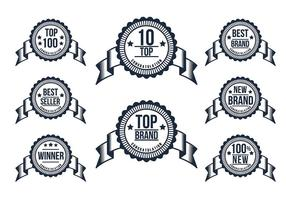 Top 10 Badge Set Vector