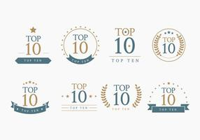 Top 10 Bagdes Vector