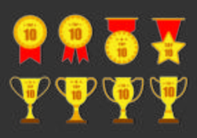 TOP 10 badges vectoriels