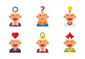 Open Mind Avatar Vecteurs d'icône