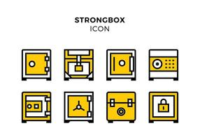 Strongbox Line Icon Pixel Perfect Free Vector