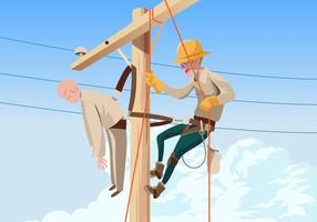 Lineman Rescue Practice Vector