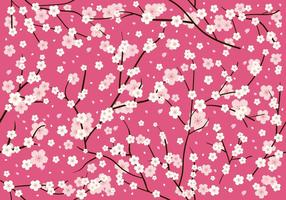 Plum Blossom Seamless Pattern vector