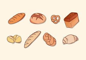 Vecteur de pâtisserie et de brioche