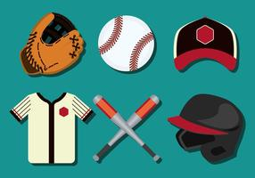 Softball Vector Pictogrammen
