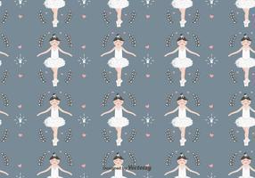 Ballerina-Vektor-Muster