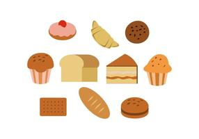 Gratis Colorful Pastry Icon Vector