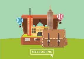 Trip To Melbourne Free Vector