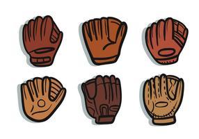 Softball glove vector